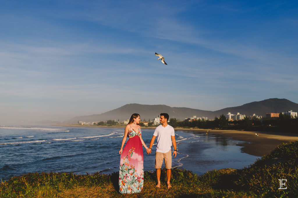 Pré Wedding na Praia da Vila Imbituba Noivos Ensaio