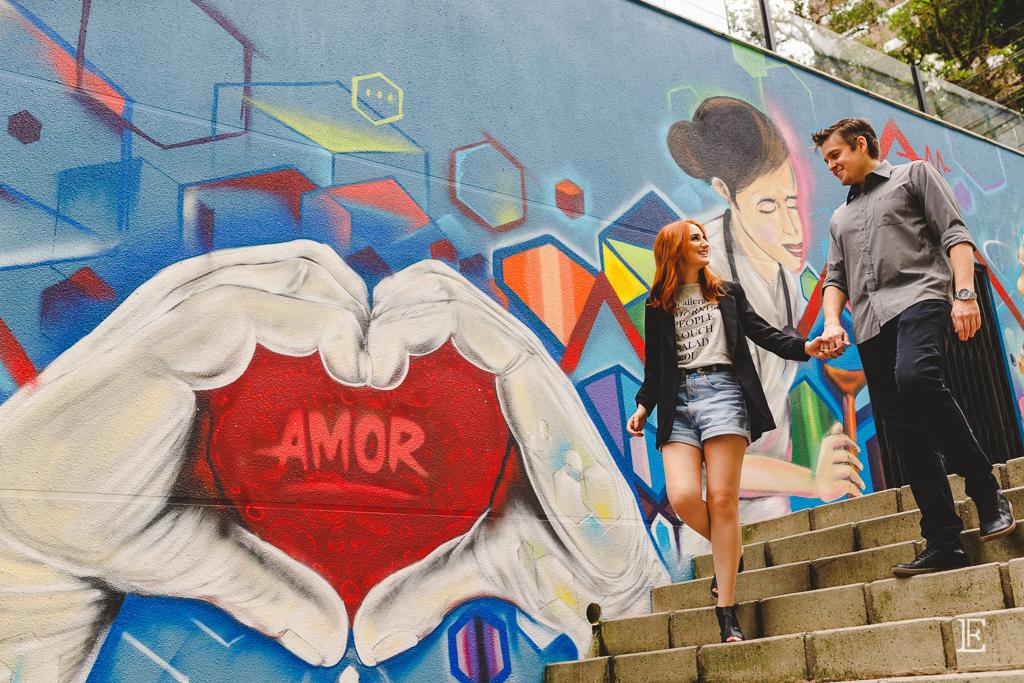 Pré Wedding no Centro de Florianópolis Grafite